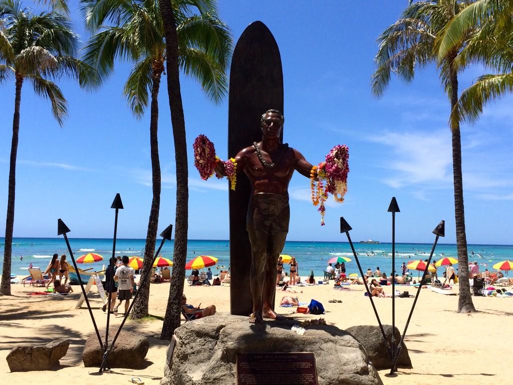 Duke Kahanamoku Statue Waikiki Beach