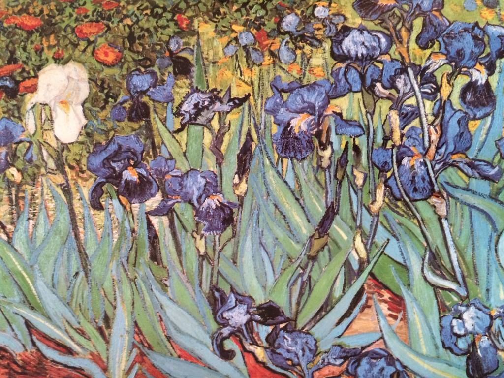 Van Gogh irises and roses art exhibit
