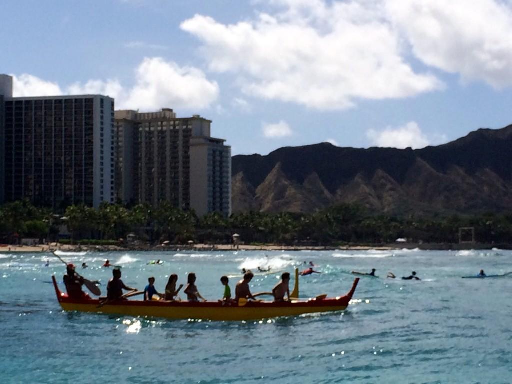 Hawaiian outrigger canoe malia