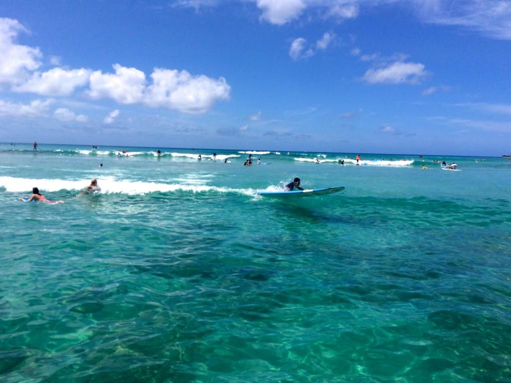Surfing in Oahu Waikiki