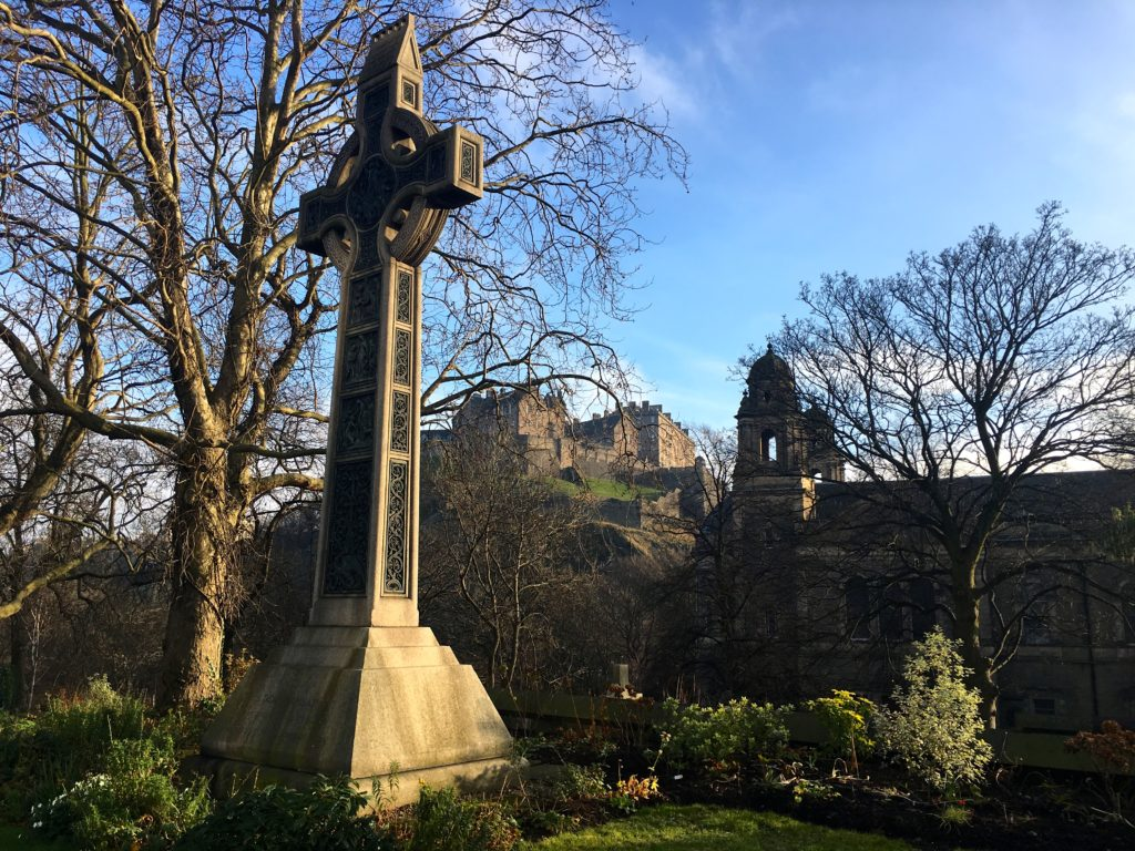 View of Edinburgh Castle from Princes Street